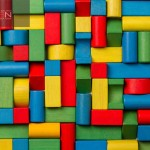 Toys blocks, multicolor wooden colorful bricks